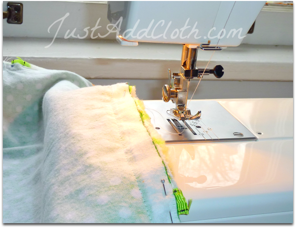 easy blanket sewing
