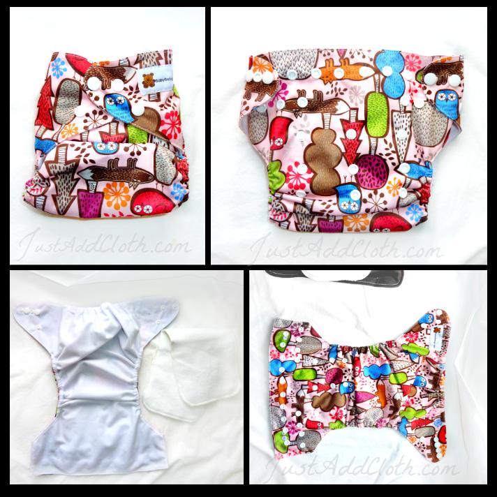 baby beduga cloth diaper print