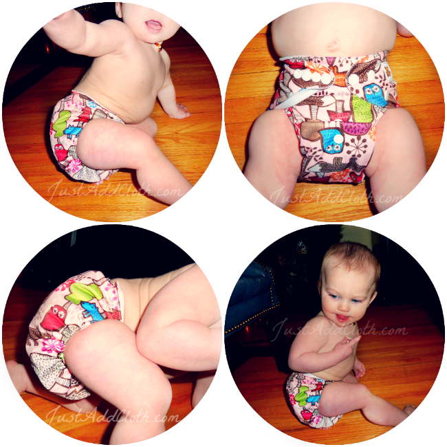 baby beduga cloth diaper on baby