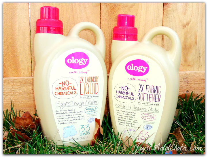 ology laundry detergent and fabric softener