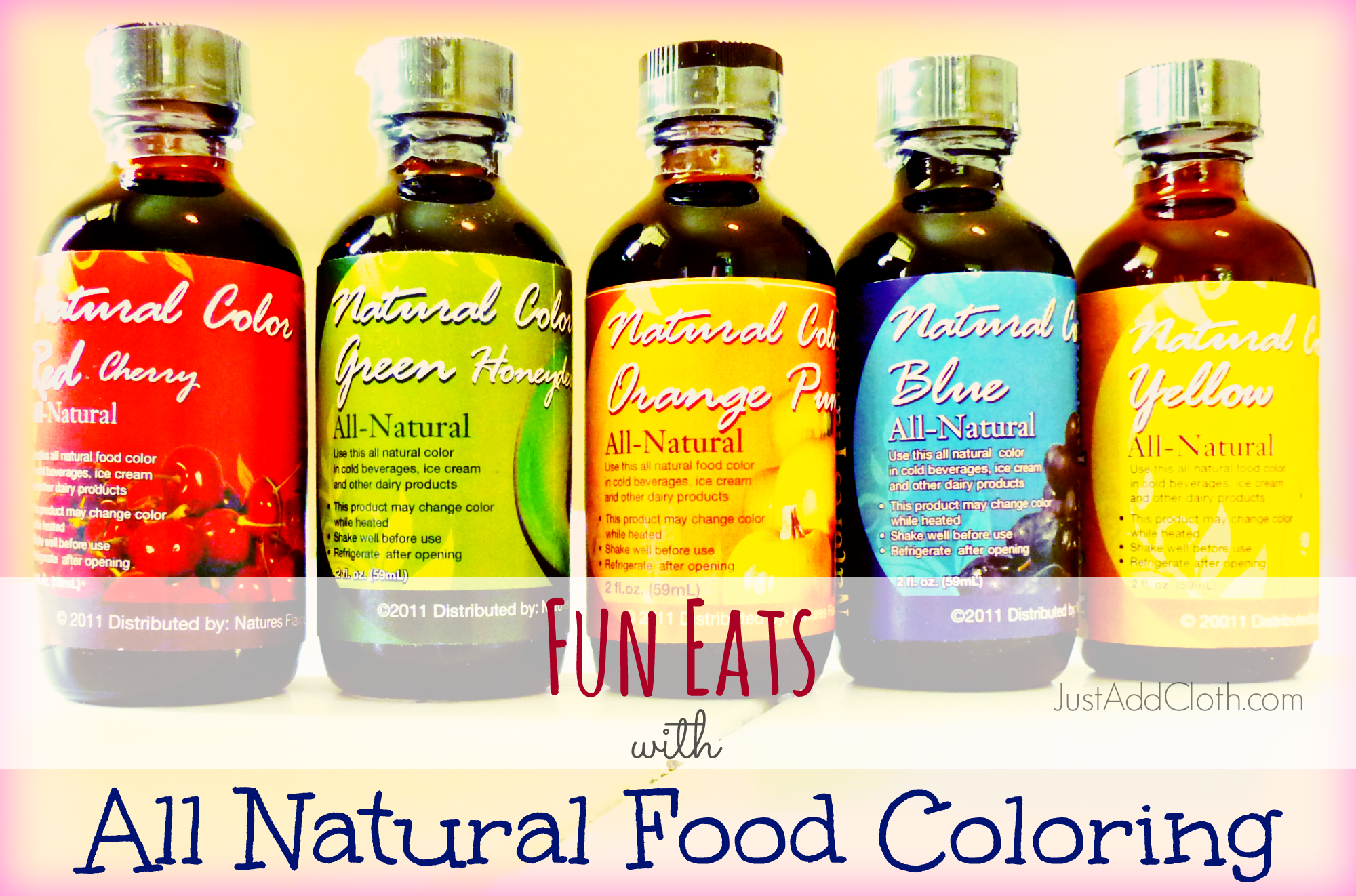 Making Food Fun with All Natural Food Coloring • Just Add Cloth