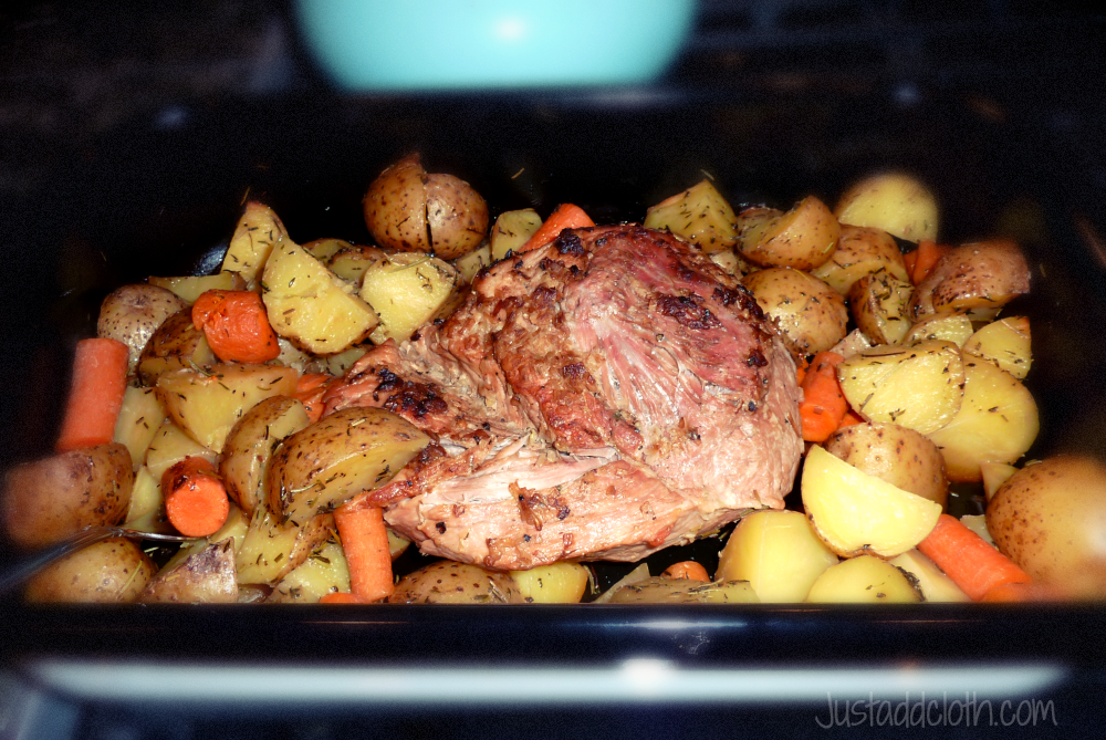 Easy Hearty Eats Pork Roast And Root Vegetables Just Add Cloth