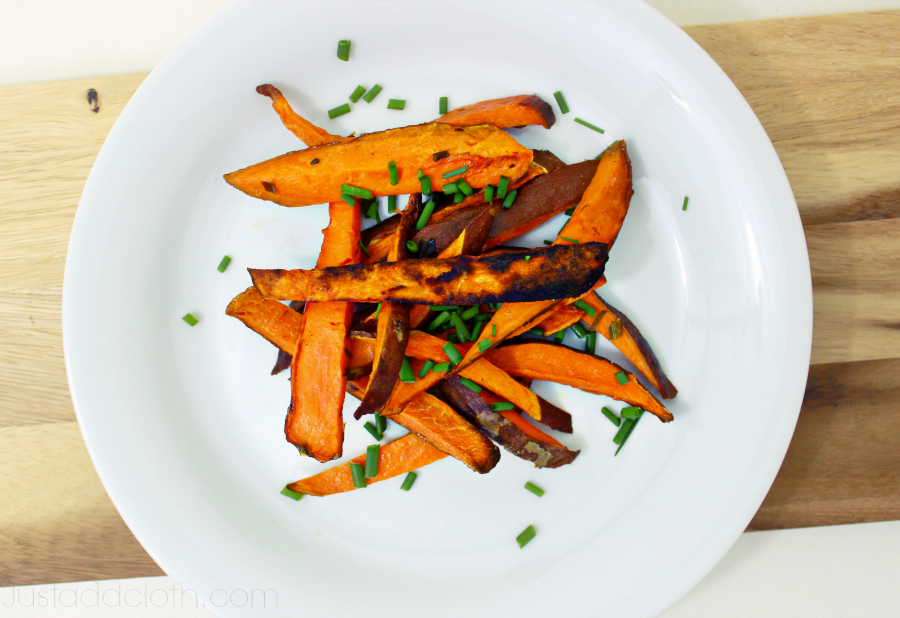 Home Baked Sweet Potato Fries with Fresh Chives 2