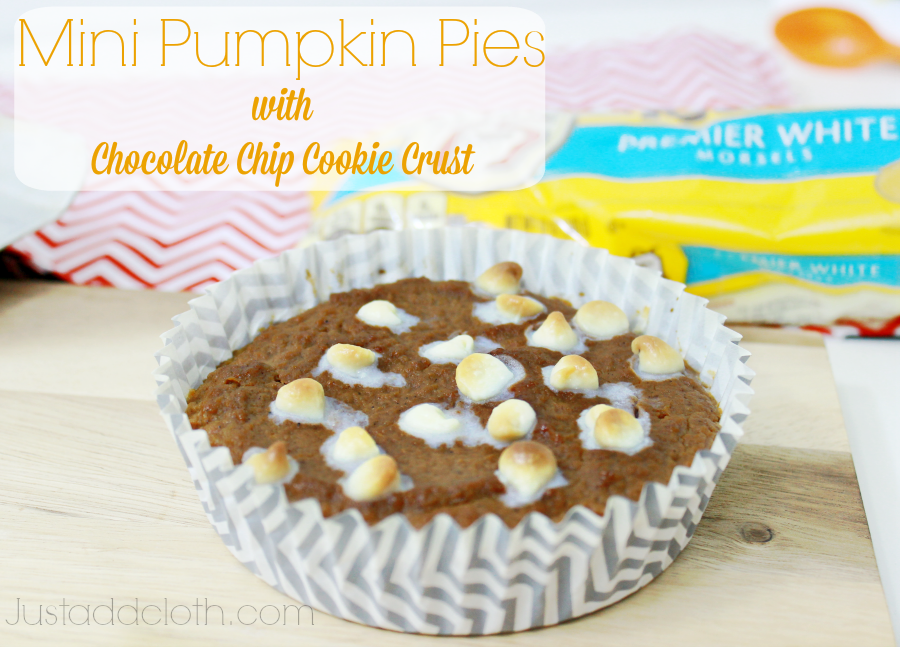 Mini Pumpkin Pies with Chocolate Chip Cookie Crust – Just Add Cloth
