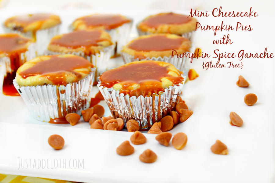 Mini Cheesecake Pumpkin Pies with Pumpkin Spice Ganache {Gluten Free} 1