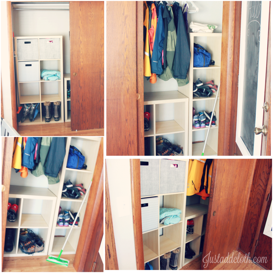 Making Over A Small Mudroom Closet Just Add Cloth