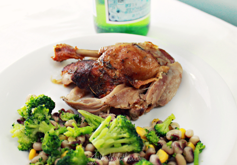 Garlic Lime Roasted Whole Duck 4