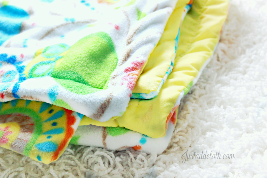 diy turn top stitch blanket 1