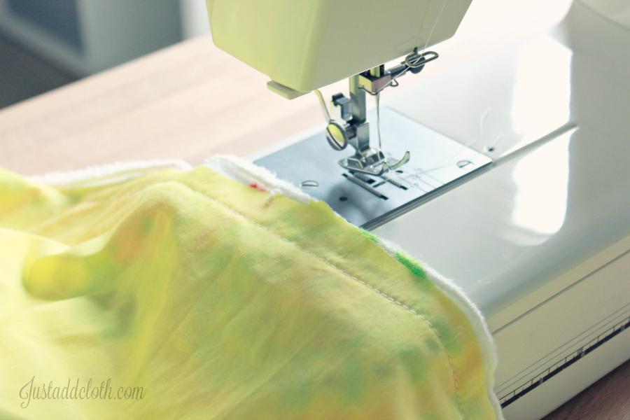 diy turn top stitch blanket 2