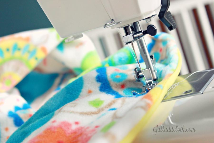 diy turn top stitch blanket 3