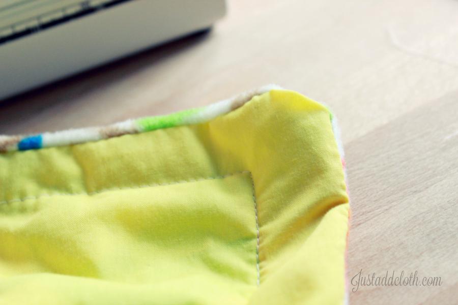 diy turn top stitch blanket 4