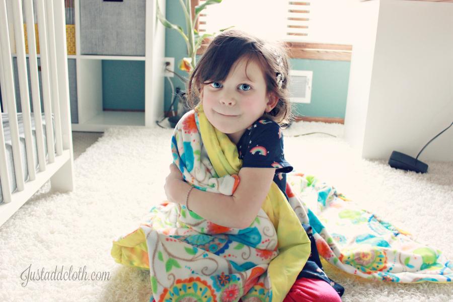 diy turn top stitch blanket 5