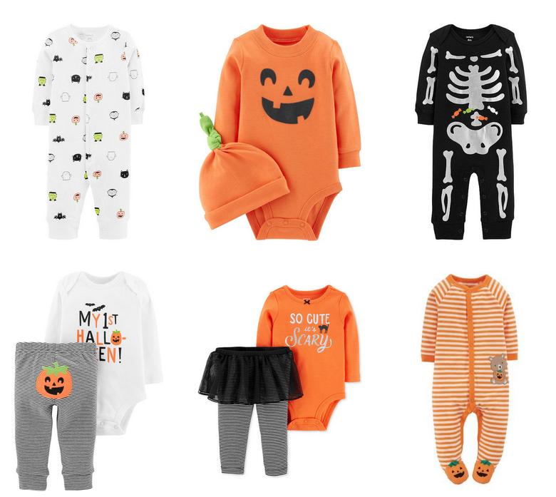 Carters Infant Girls Orange Pumpkin Tutu Sleeper Halloween Sleep N Play