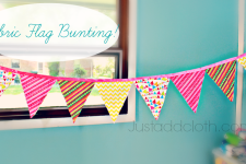 Fabric Flag Bunting for the Girls' Room