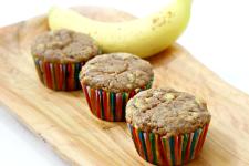 Gluten Free Banana Cinnamon Muffins {With Konjac Root}