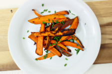 Home Baked Sweet Potato Fries with Fresh Chives