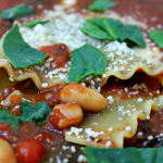Lasagna Soup with Spinach & Cannellini Beans