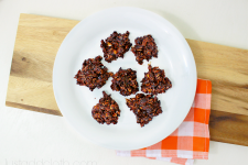 No Bake Coconut Fudge Protein Oat Clusters