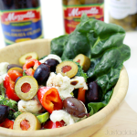 Our Holiday Tradition Greek Salad with A Bounty of Olives