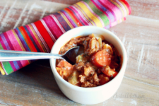 Red Lentil Stew with Ground Beef & Cabbage