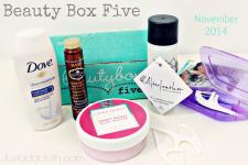 Beauty Box Five November 2014
