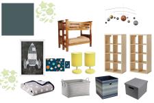 A Little Boy Bedroom Makeover - Space Inspiration