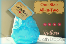 Economical Diapering: Buttons All in Two Cloth Diapers