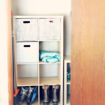 Making Over A Small Mudroom Closet
