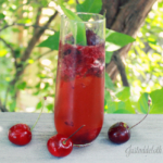 Cherry Rum Fizz with Basil