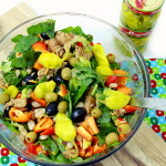 Spinach Pepper Salad with Grilled Chicken