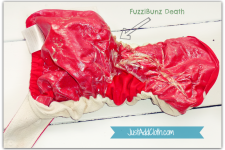 Cloth Diaper Casualties: Another FuzziBunz Funeral