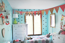 Girl Room Decor Upgrade: Blinds, Pom Poms & Triangles