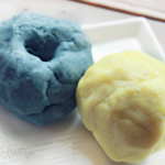 Homemade Play-Dough  ( Non-greasy & Without Cream of Tartar)