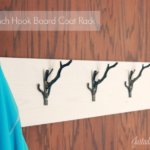 DIY Hook Board Coat Rack