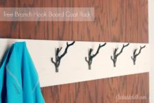 DIY Hook Board Coat Rack