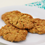Not Too Sweet Peanut Butter Cookies with Oats