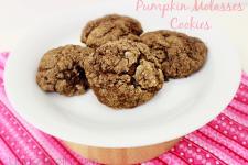 Dark & Chewy Pumpkin Molasses Cookies