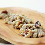 Easy No Bake Cookies: White Walnut Oaties   {Gluten Free}